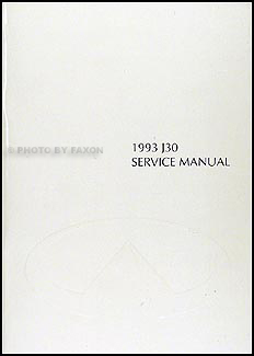 1993 Infiniti J30 Repair Manual Original