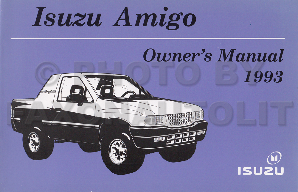 1993 Isuzu Amigo Owner's Manual Original