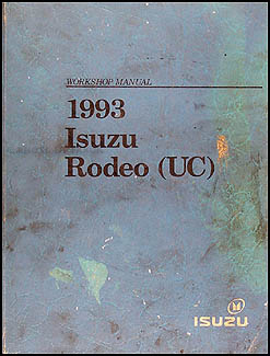 1993 Isuzu Rodeo & Honda Passport Repair Manual Original