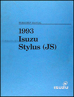 1993 Isuzu Stylus Repair Manual Original