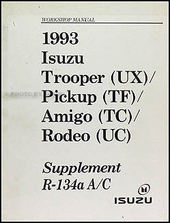 1993 Isuzu Air Conditioning Repair Manual Supplement
