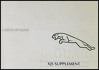 1993 Jaguar XJS Owner's Manual Supplement Original