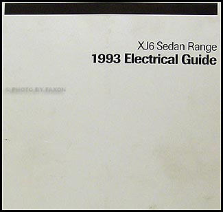 1993 Jaguar XJ6 Electrical Guide Wiring Diagram Original