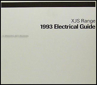1993 Jaguar XJ-S Electrical Guide Wiring Diagram Original