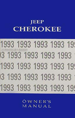 1993 Jeep Cherokee Original Owner's Manual