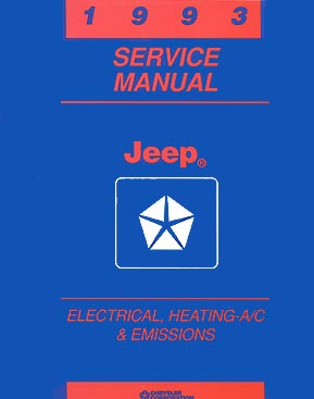 1993 Jeep Cherokee & Wrangler Shop Manual Original 93