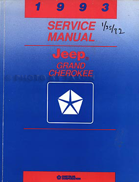 1993 Jeep Grand Cherokee & Grand Wagoneer Shop Manual Original
