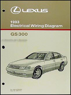 1993 Lexus GS 300 Wiring Diagram Manual Original on