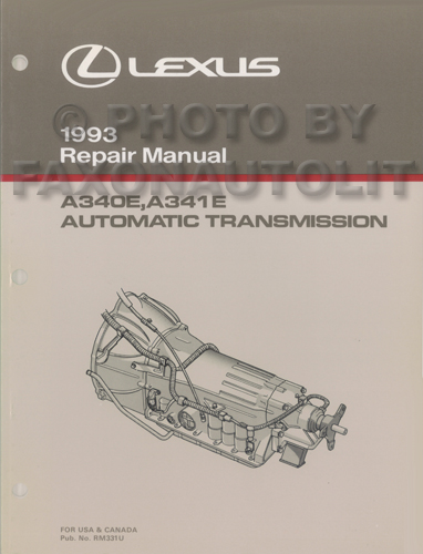 1993 Lexus LS 400 & SC 400 Automatic Transmission Repair Manual Original