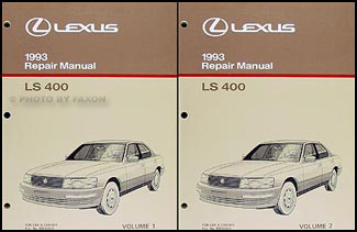 1993 Lexus LS 400 Repair Manual Original 2 Volume Set