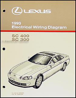1993 Lexus SC 300/400 Wiring Diagram Manual Original