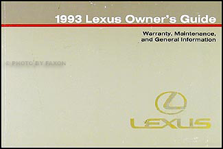 1993 Lexus Warranty, Maintenance Record, and General Information