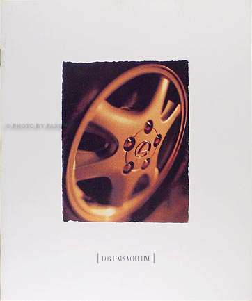 1993 Lexus Sales Catalog Original--All Models
