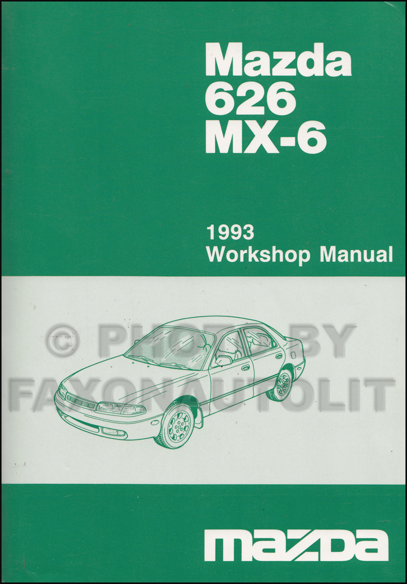 1992 mazda 626 & mx-6 repair manual original