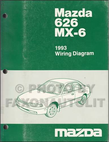 1993 Mazda 626 and MX-6 Wiring Diagram Manual Original