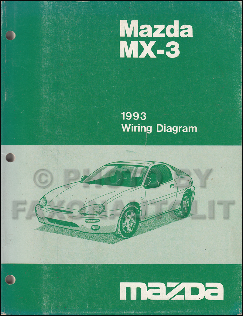 1993 Mazda Mx3 Wiring Diagram Manual Original Wire Data Schema Isuzu Truck Mx 3 Rh Faxonautoliterature Com
