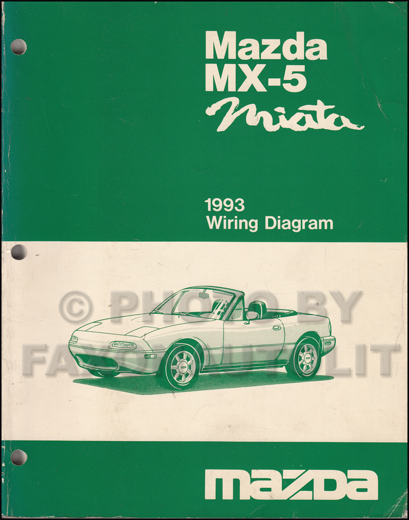 1993 Mazda MX-5 Miata Wiring Diagram Manual Original