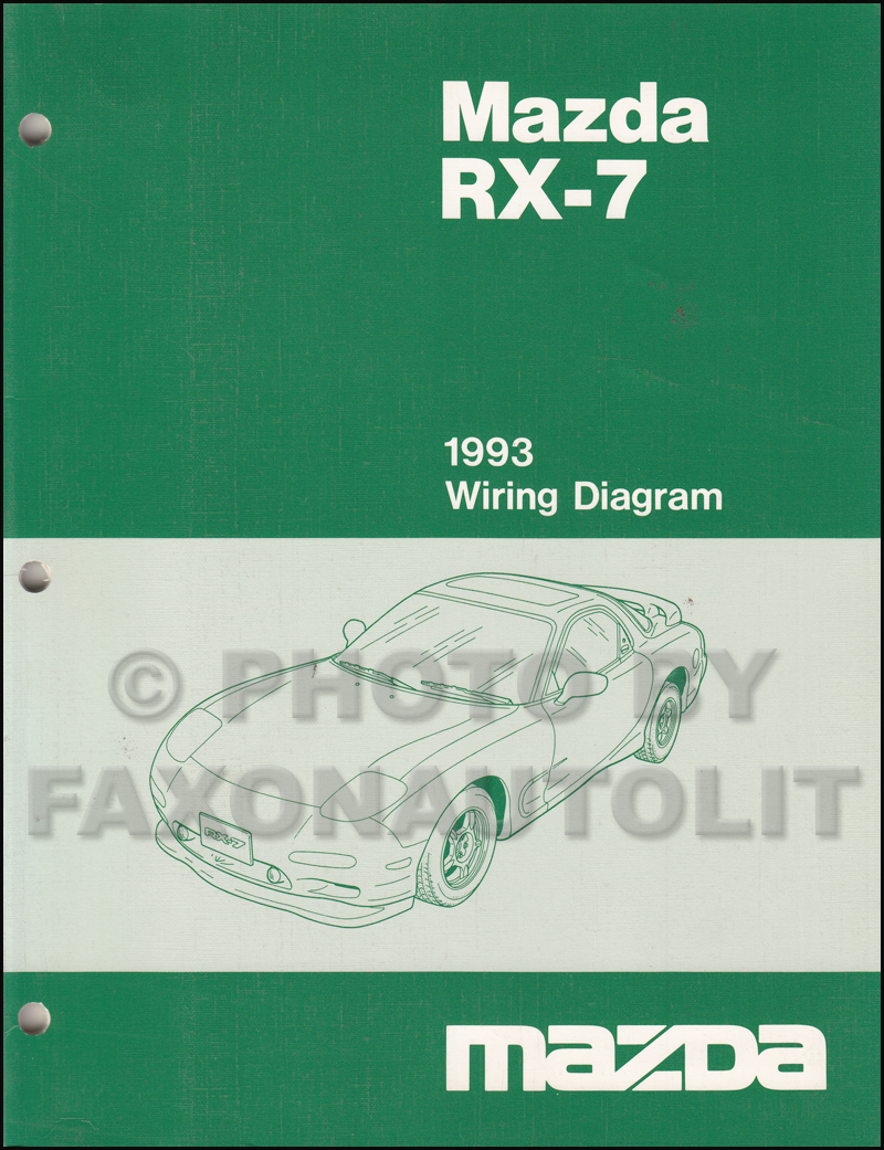 1993 Mazda RX-7 Wiring Diagram Manual Original RX7