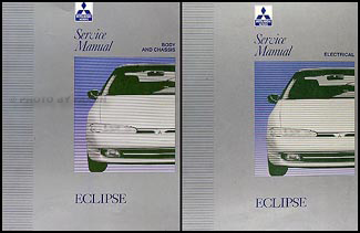 1992-1993 Mitsubishi Eclipse Repair Manual Set Original