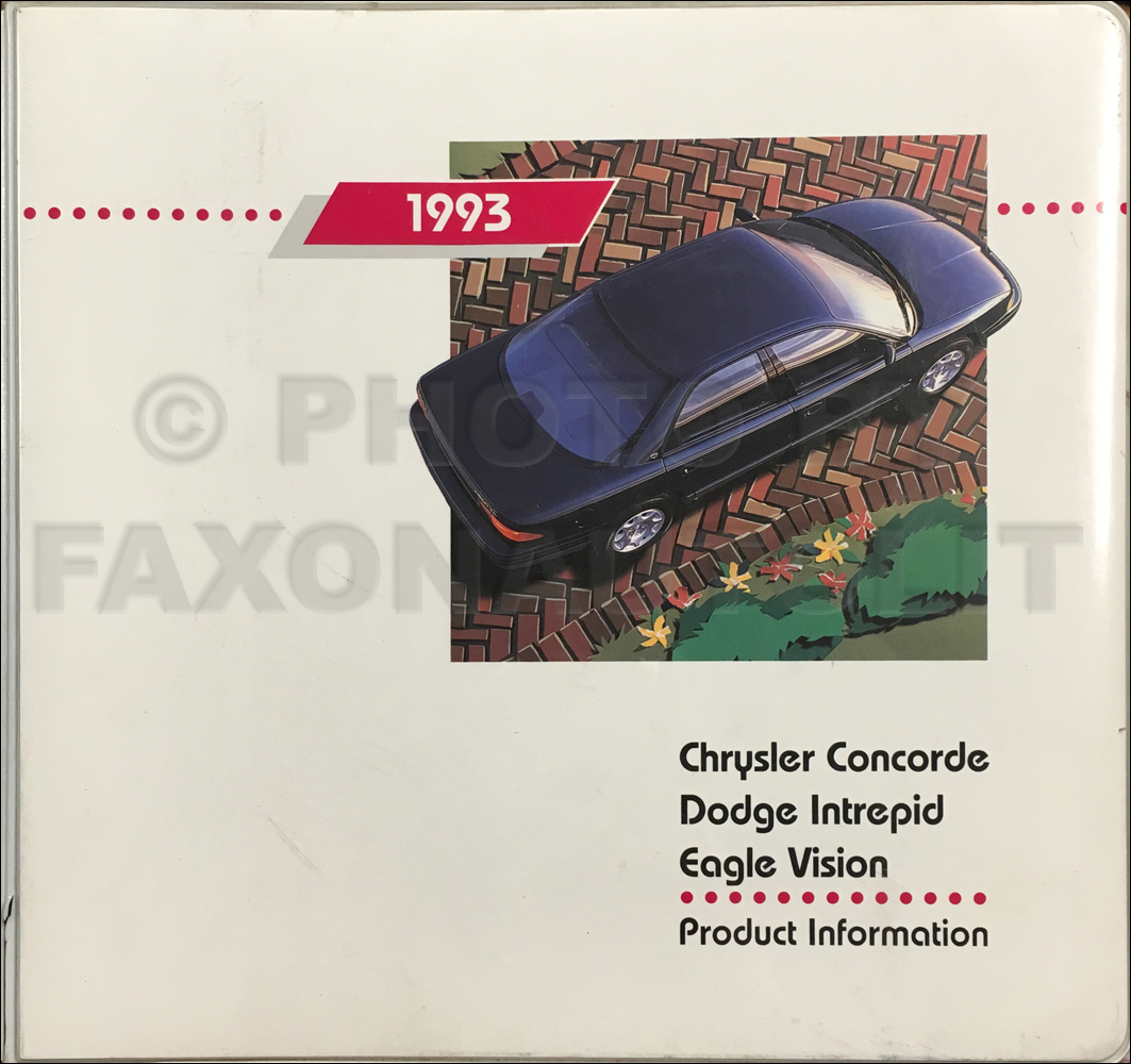 1993 Chrysler Concorde  Dodge Intrepid  Eagle Vision