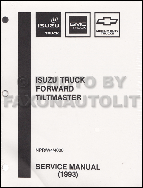 1993 NPR & W4 Diesel Repair Manual Factory Reprint