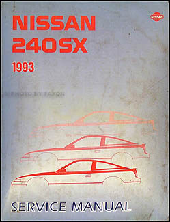 1993 Nissan 240SX Repair Manual Original