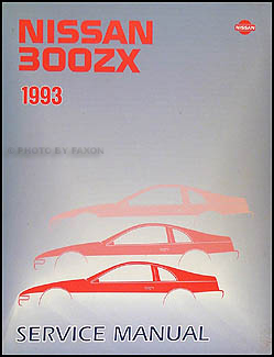 1993 Nissan 300ZX Repair Manual Original