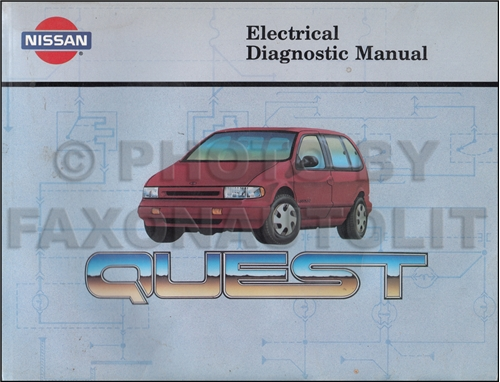 1993 Nissan Quest Electrical Diagnosis Manual Original