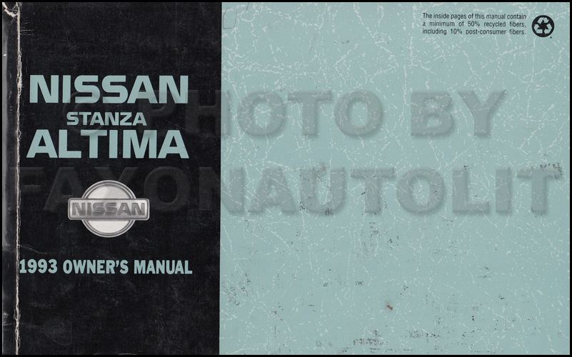 1993 Nissan Stanza Altima Wiring Diagram Manual Original