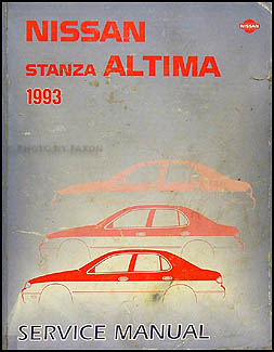 1993 Nissan Stanza Altima Repair Manual Original