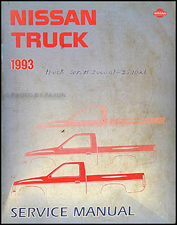 1993 Nissan Pickup Repair Manual Original