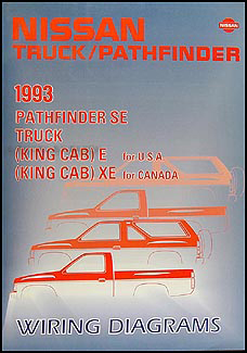 1993 nissan truck and pathfinder wiring diagram manual original rh faxonautoliterature com 91 Nissan Pickup Wiring Diagram 1993 nissan pickup radio wiring diagram