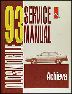1993 Oldsmobile Achieva Shop Manual Original