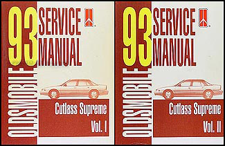 1993 Oldsmobile Cutlass Supreme Repair Manual Original Set
