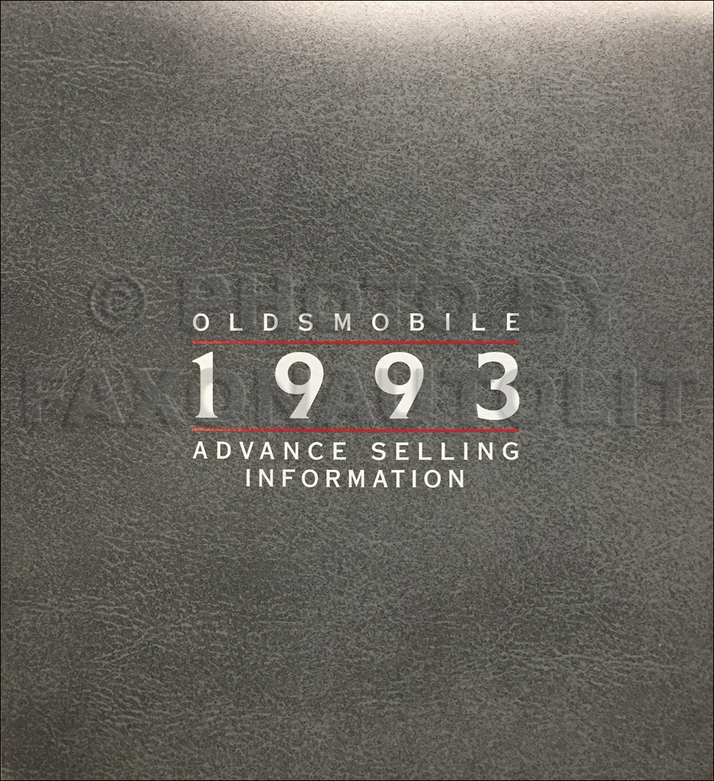 1993 Oldsmobile Advance Selling Dealer Album Original