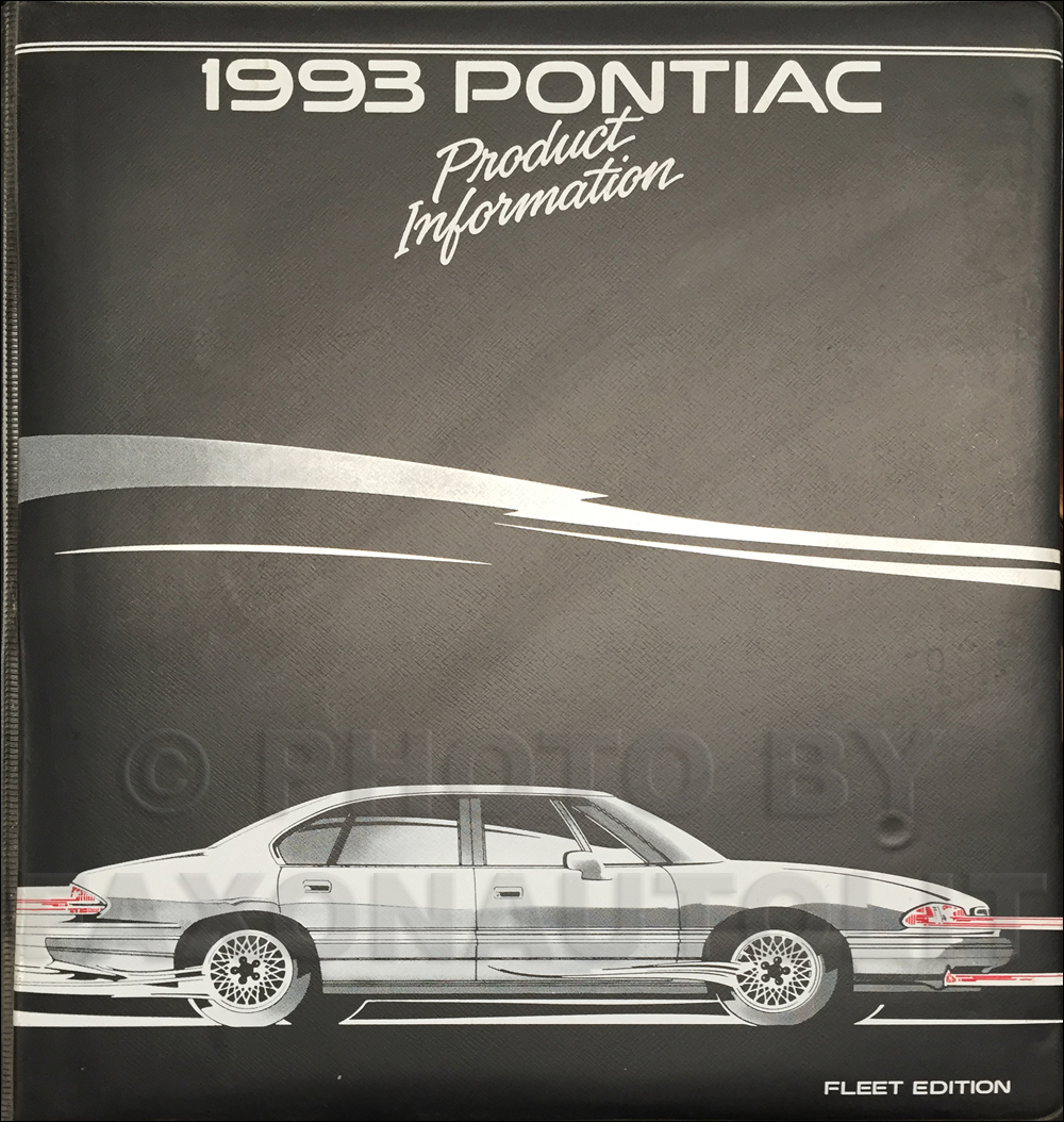 1993 Pontiac Color & Upholstery, Data Book Dealer Album FLEET Edition Original