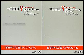 1993 Pontiac Grand Prix Repair Manual Original 2 Volume Set