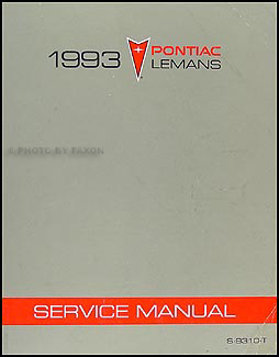 1993 Pontiac LeMans Repair Manual Original