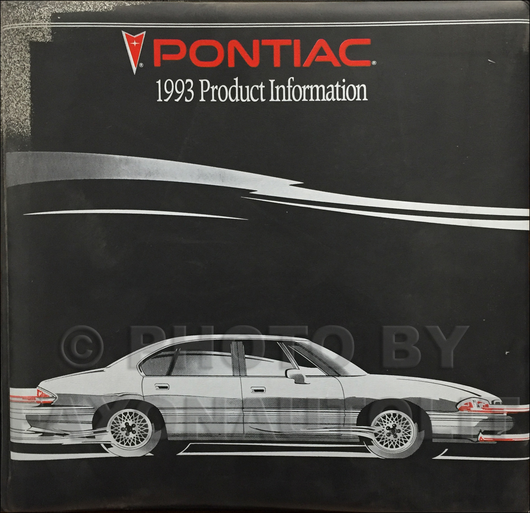 1993 Pontiac Color & Upholstery, Data Book & Bulletins Dealer Album Original