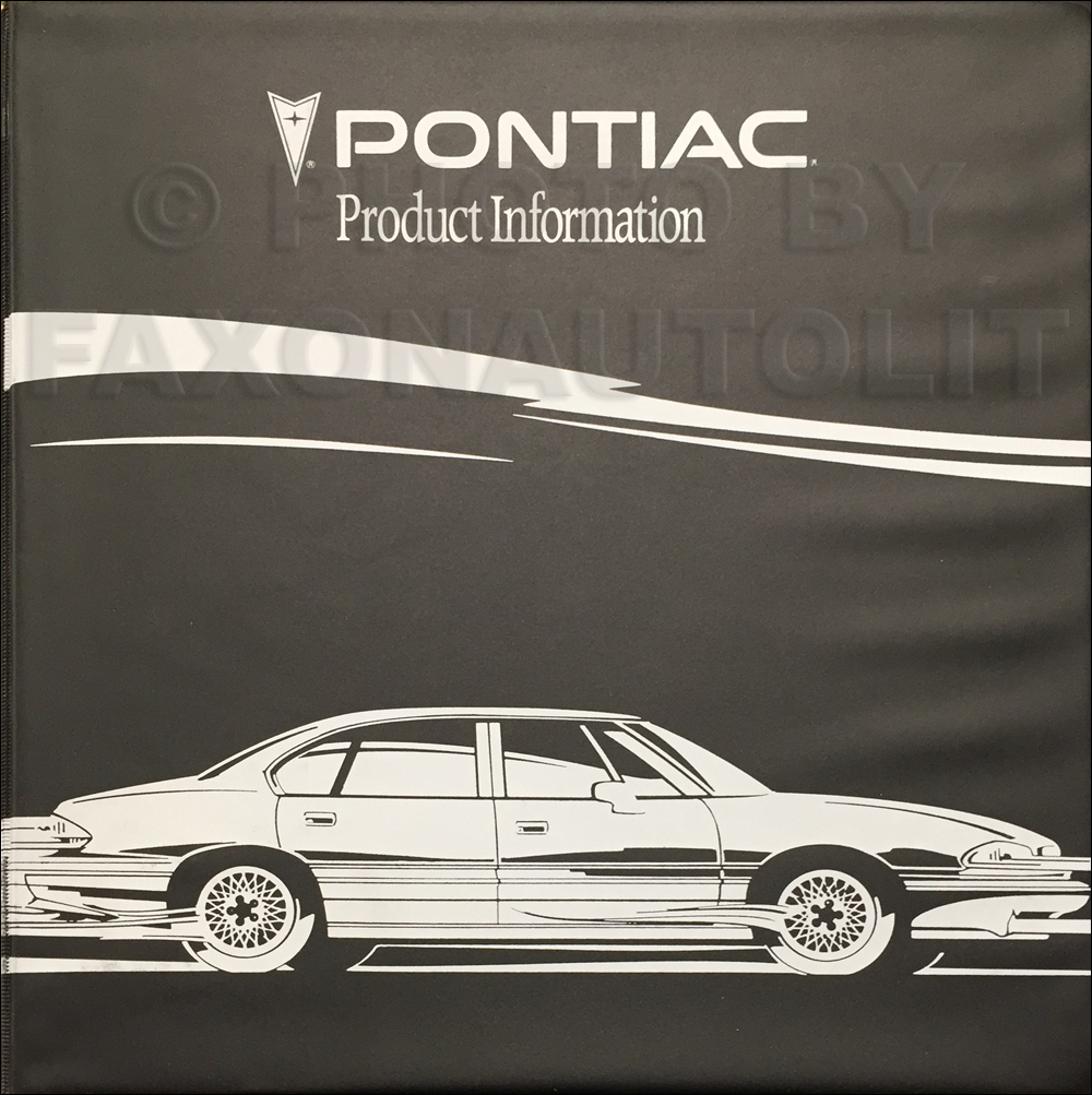 1993 Pontiac Color and Upholstery Dealer Album/Data Book Original CANADIAN