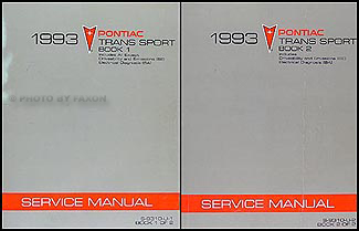 1993 Pontiac Trans Sport Van Repair Manual Original 2 Volume Set