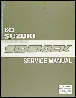 1993 Suzuki Sidekick Repair Manual Original