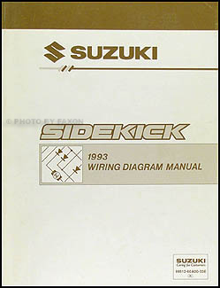 1993 Suzuki Sidekick 1600 and Sport 1800 X-90 Wiring Diagram Manual