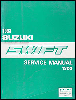 1993 Suzuki Swift 1300 Repair Manual Original