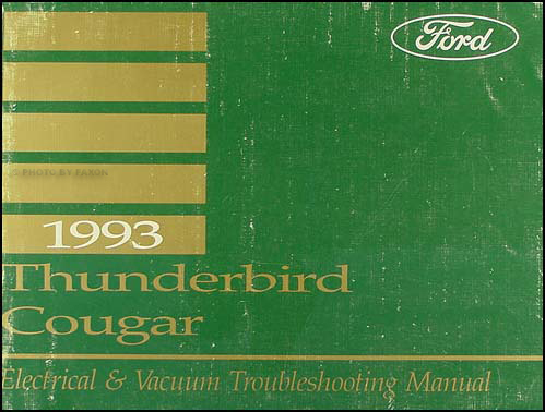 1993 Ford Thunderbird Mercury Cougar Electrical Troubleshooting Manual