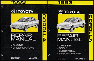 1993 1998 toyota corolla body collision manual original rh faxonautoliterature com 2005 Toyota Corolla Maintenance Manual 2005 Toyota Corolla Service Manual