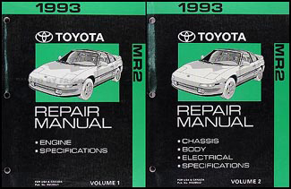 1993 Toyota MR2 Repair Manual Original 2 Volume Set