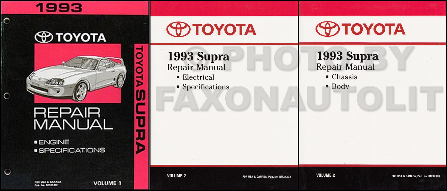 1993 Toyota Supra Repair Manual Original