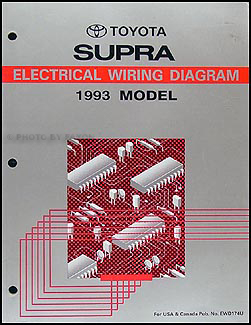 1993 Toyota Supra Wiring Diagram Manual Original