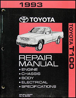1993 Toyota T100 Repair Manual Original